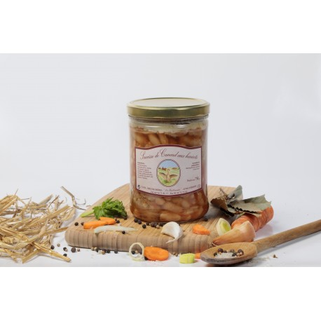 Saucisses de canard aux haricots (2 part) 750g