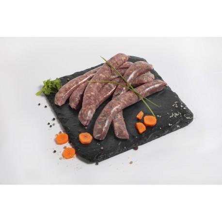 Saucisses de canard au fromage de chèvre et ciboulette x6 sous vide 400 à 420g