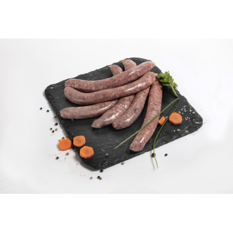 Saucisses de canard nature x 3   (350g env.).